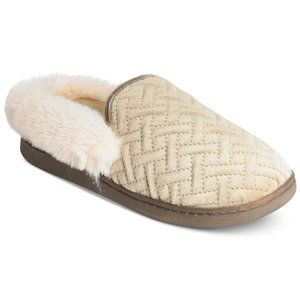 Charter Club Quilted Slippers - Gray - L 9/10